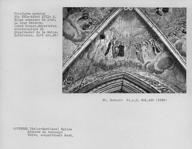 Peinture murale du compartiment nord de la croisée du transept : Cour céleste