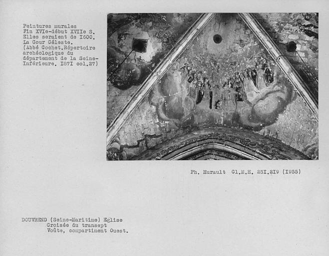 Peinture murale du compartiment ouest de la croisée du transept : Cour céleste