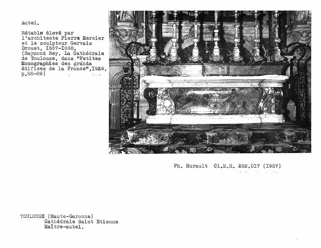 Retable, haut-relief du maître-autel : Lapidation de saint Etienne