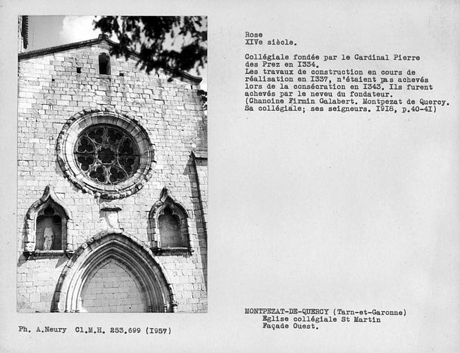 Collégiale Saint-Martin et maisons adossées à son chevet