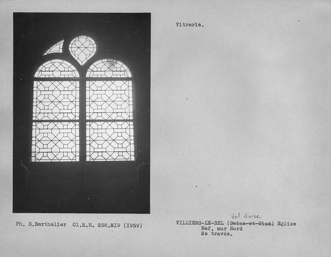 Vitrerie de la deuxième travée du mur nord de la nef