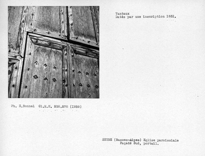 Vantaux du portail côté sud