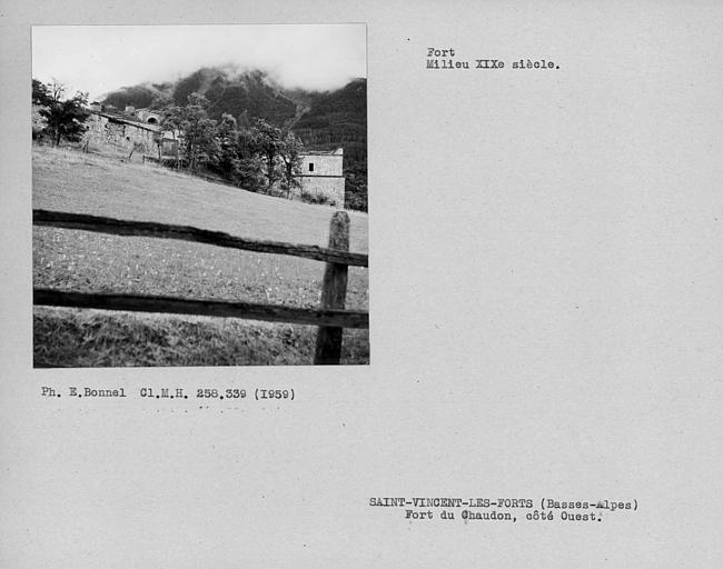 Vue du fort côté ouest