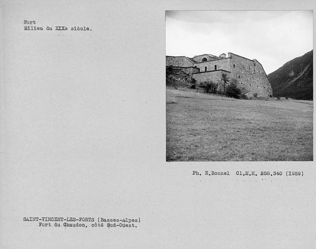 Vue du fort côté sud-ouest
