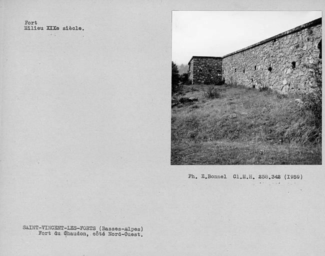Vue du fort côté nord-ouest