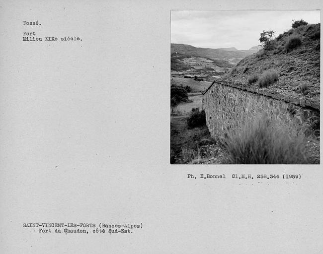 Vue du fort côté sud-est