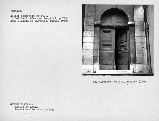 Vantaux du portail de la façade ouest