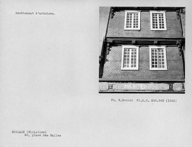Revêtement d'ardoises de la façade