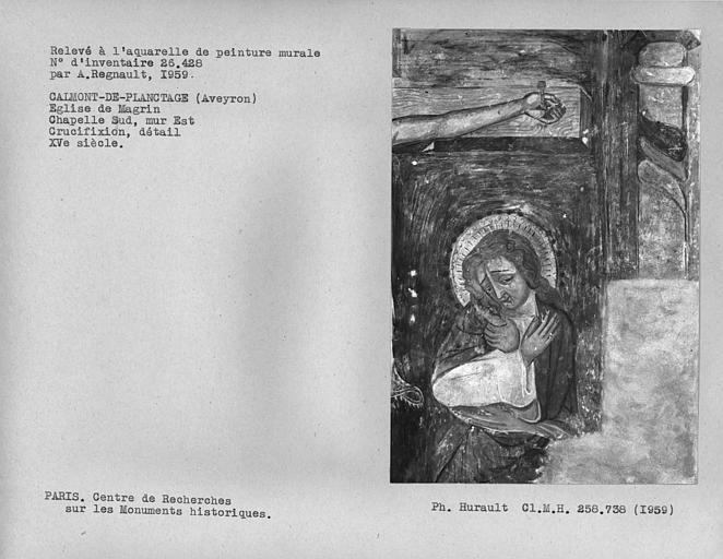 Relevé de la Crucifixion : Saint-Jean