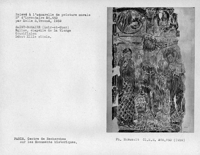 Relevé de la chapelle de la Vierge : Crucifixion