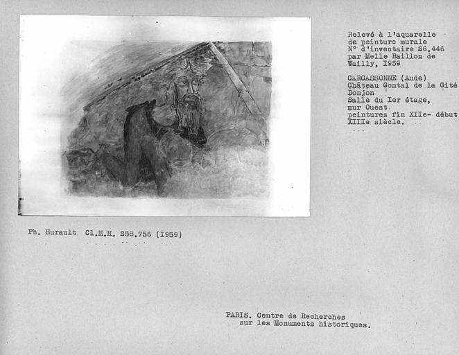Relevé du mur ouest du donjon : Personnage
