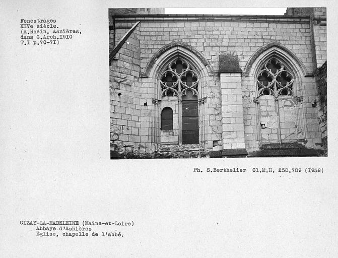 Fenestrages de la chapelle de l'abbé au sud-est