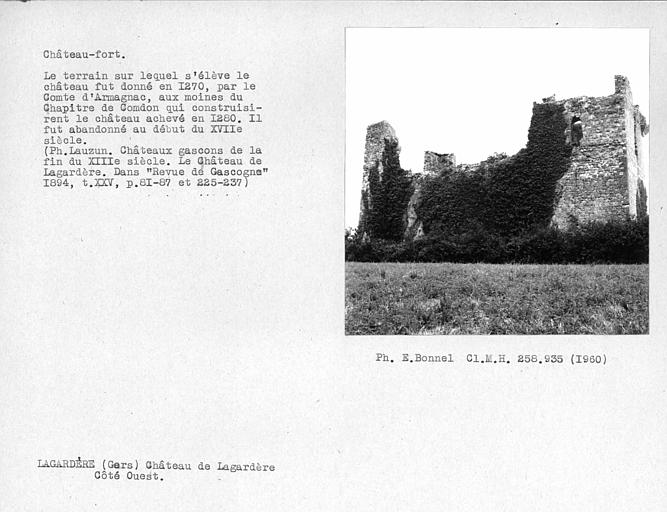 Château-fort. Côté ouest