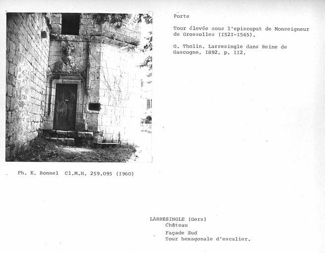 Porte de la tourelle d'escalier, côté sud