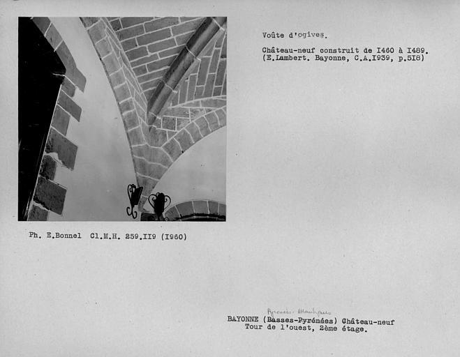 Voûte d'ogives du deuxième étage de la tour de l'ouest