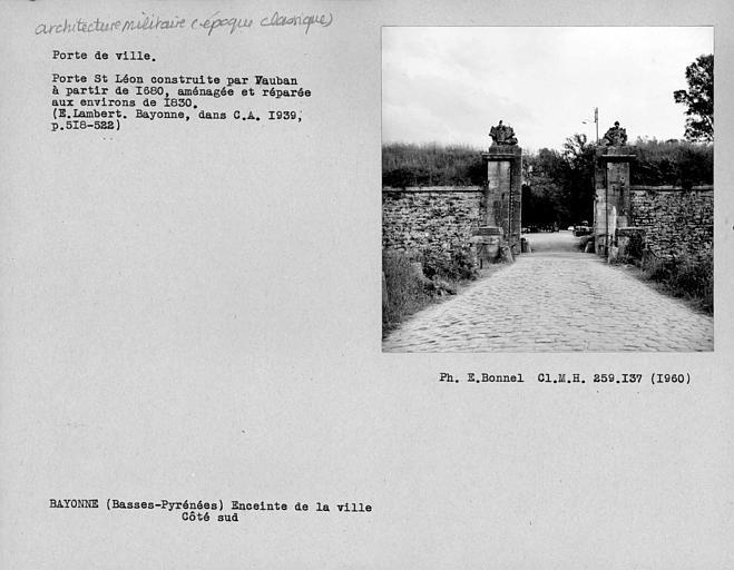 Porte Saint-Léon, côté sud