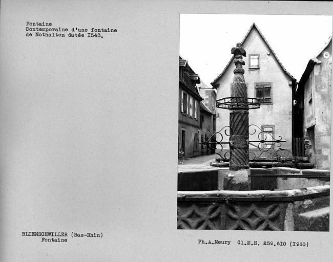 Fontaine contemporaine d'une fontaine de Nothalten