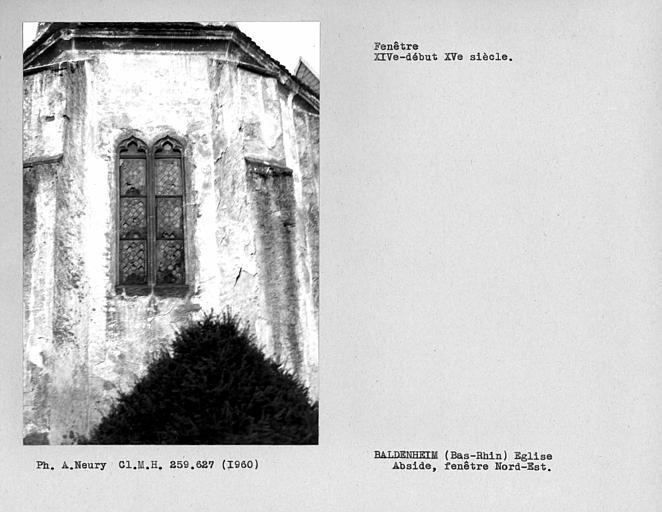 Fenestrage nord-est de l'abside