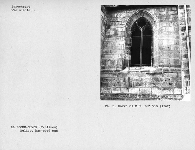 Fenestrage du bas-côté sud, avant-dernière fenêtre de la troisième travée