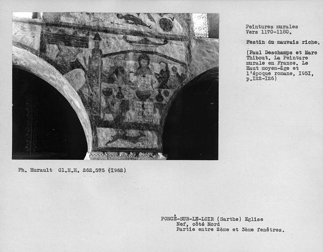 Partie entre la deuxième et la troisième fenêtre du côté nord de la nef, repos du mauvais riche