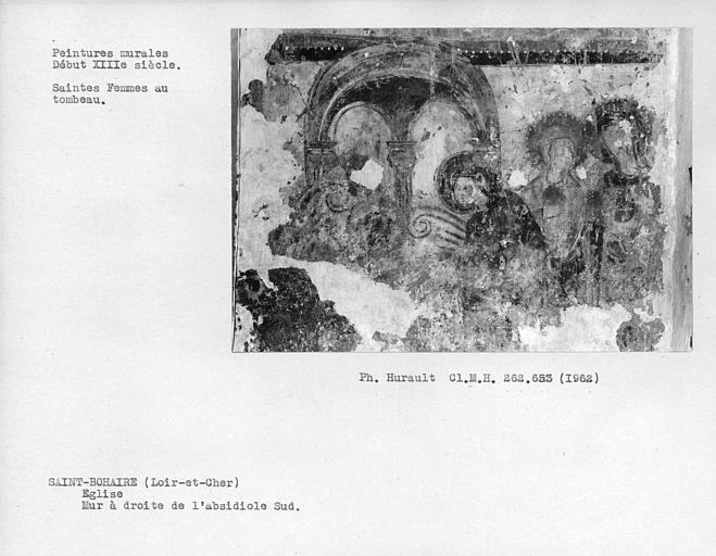 Détail de scène du mur est à droite de l'absidiole sud