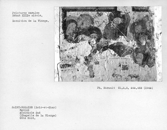 Détail de la scène du registre bas au mur nord de l'absidiole sud