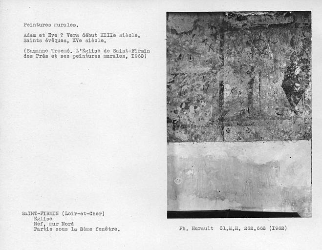 Partie sur la deuxième fenêtre du mur nord de la nef, 2 Saints-Evêques