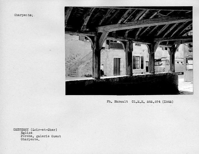 Charpente du porche, galerie ouest