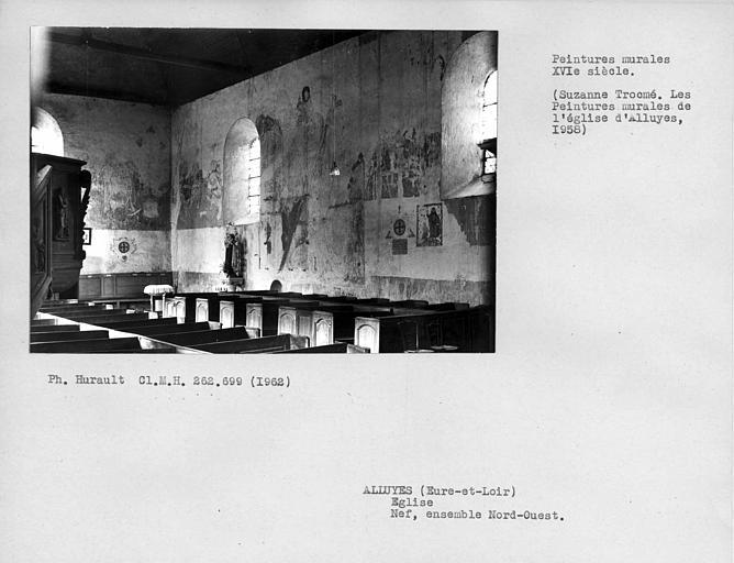 Peintures murales de l'ensemble nord-ouest de la nef