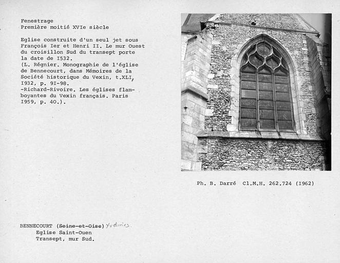 Fenestrage du bras sud du transept