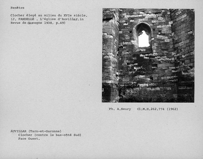Fenêtre de la face ouest du clocher