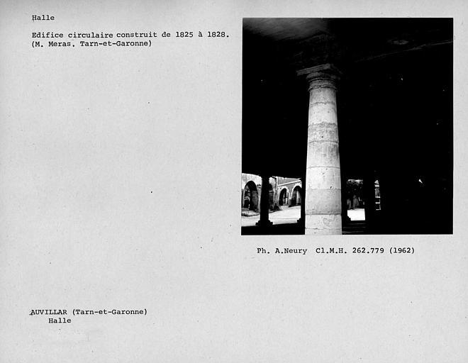 Halle circulaire, détail de colonne