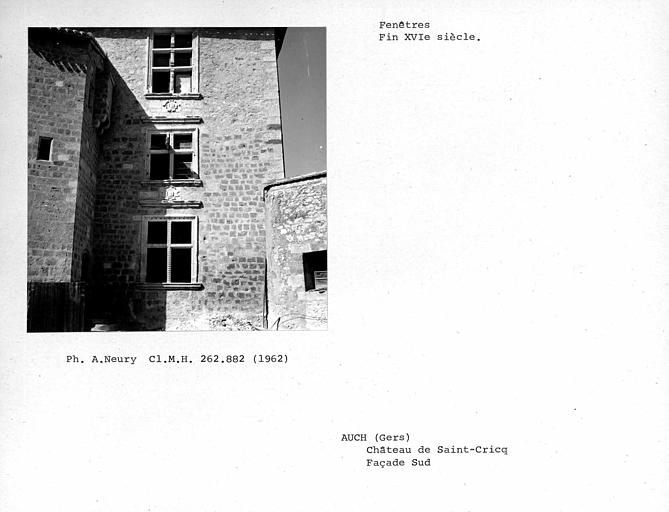 Fenêtres est de la façade sud