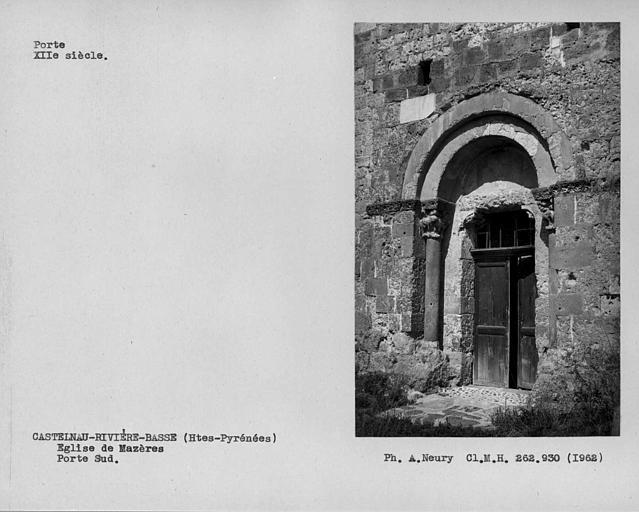 Porte sud de la façade ouest de la nef