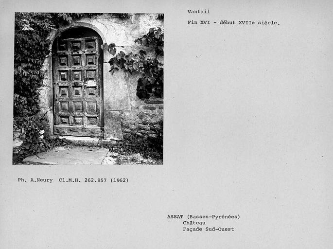 Vantaux de porte de la façade sud-ouest