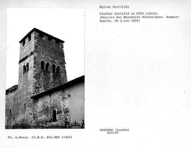 Ensemble nord-est du clocher fortifié