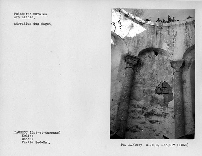 Adoration des Mages sur la partie sud-est de l'abside du choeur