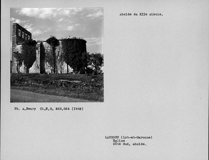 Contrefort de l'abside, côté sud