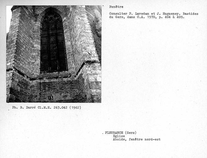 Fenêtre nord-est de l'abside