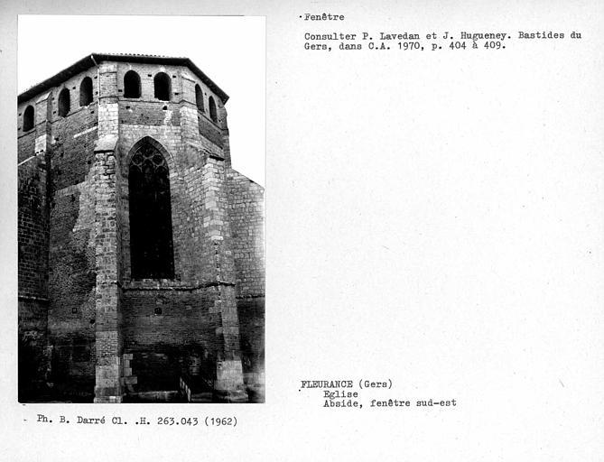 Fenêtre sud-est de l'abside
