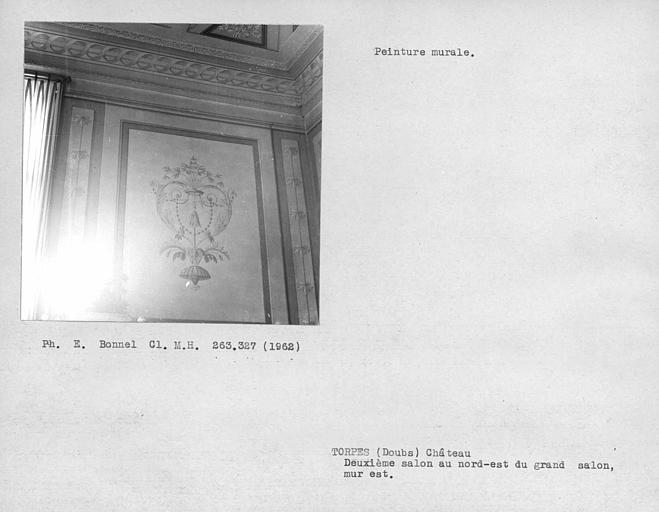 Peinture du mur est de la deuxième salle au nord-est du grand salon du rez-de-chaussée