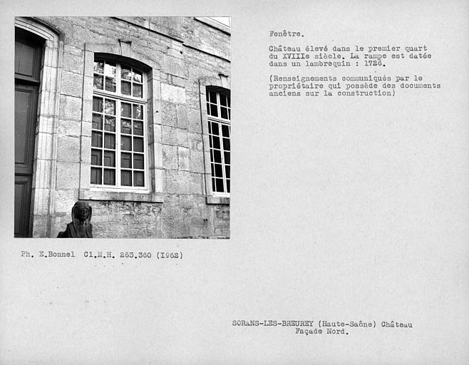 Fenêtres de la façade nord