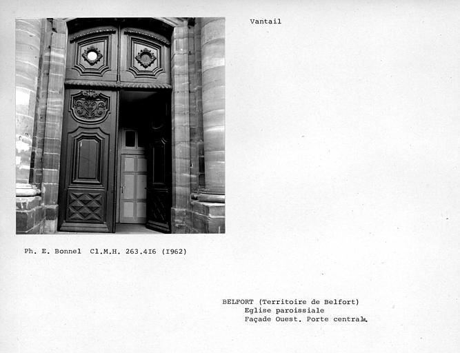Vantaux du portail central de la façade ouest