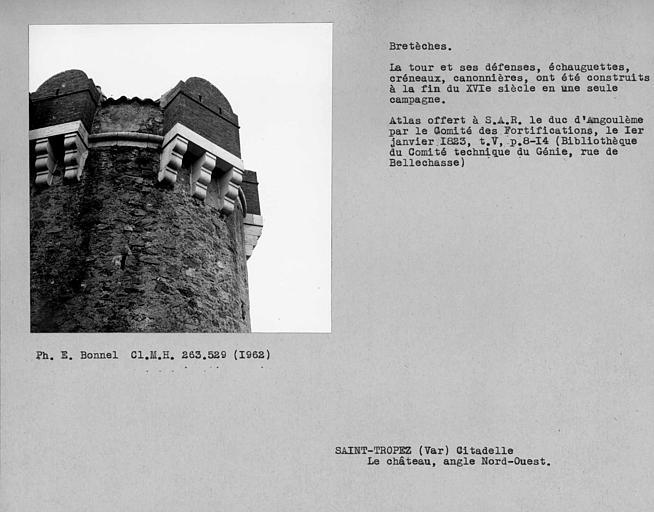 Bretèches de l'angle nord-ouest du château