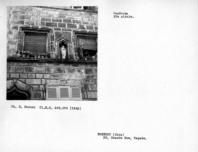 Fenêtres de la façade