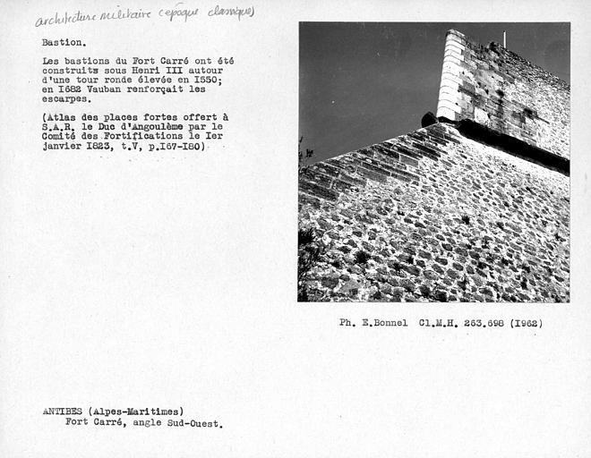 Angle sud-ouest du bastion