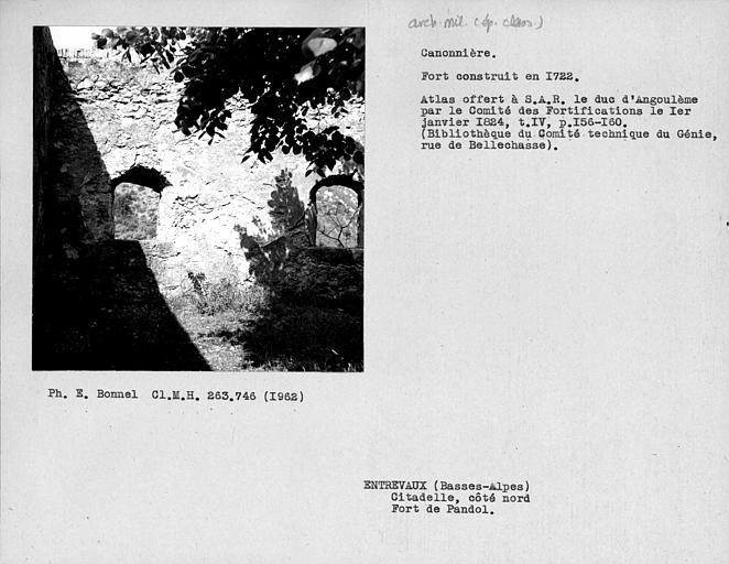 Canonnière du fortin de Pandol