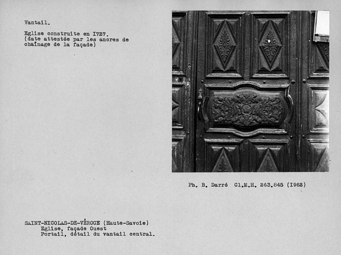 Détail du vantail de la porte ouest