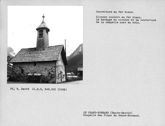 Couverture en fer blanc du clocher