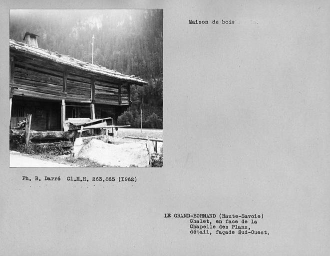 Détail de la façade sud-ouest de la maison en pan-de-bois